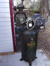 "Gilbarco ""Green Diamond"" air compressor"
