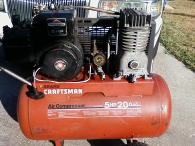 Craftsman 5hp Briggs And Stratton Gas Powered Belt Driven Air Compressor Stalls When Pressure Builds Up 21605690