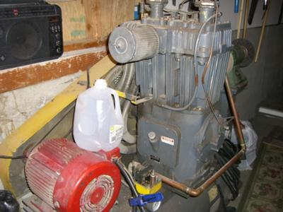 Wiring a 5 HP Quincy air compressor motor on