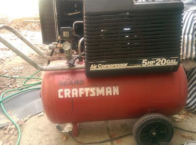 sears craftsman 5 hp 20 air compressor