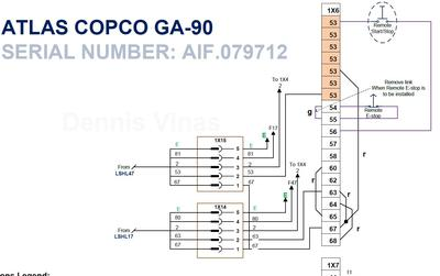GA-90 Remote Start/Stop Circuit Diagram