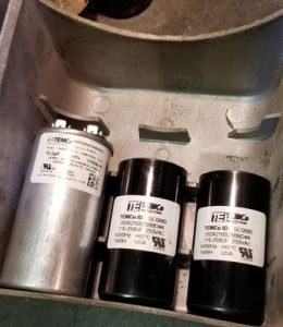 Air compressor motor capacitors