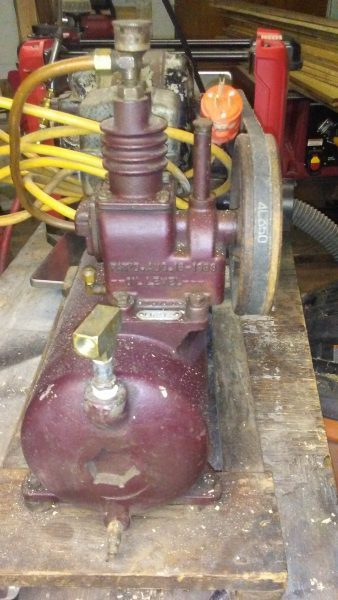 End view of a nice Saylor Beall air compressor