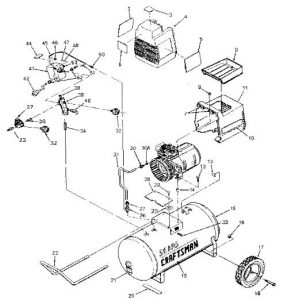 Craftsman-air-compressor-model-919.155730 parts diagram